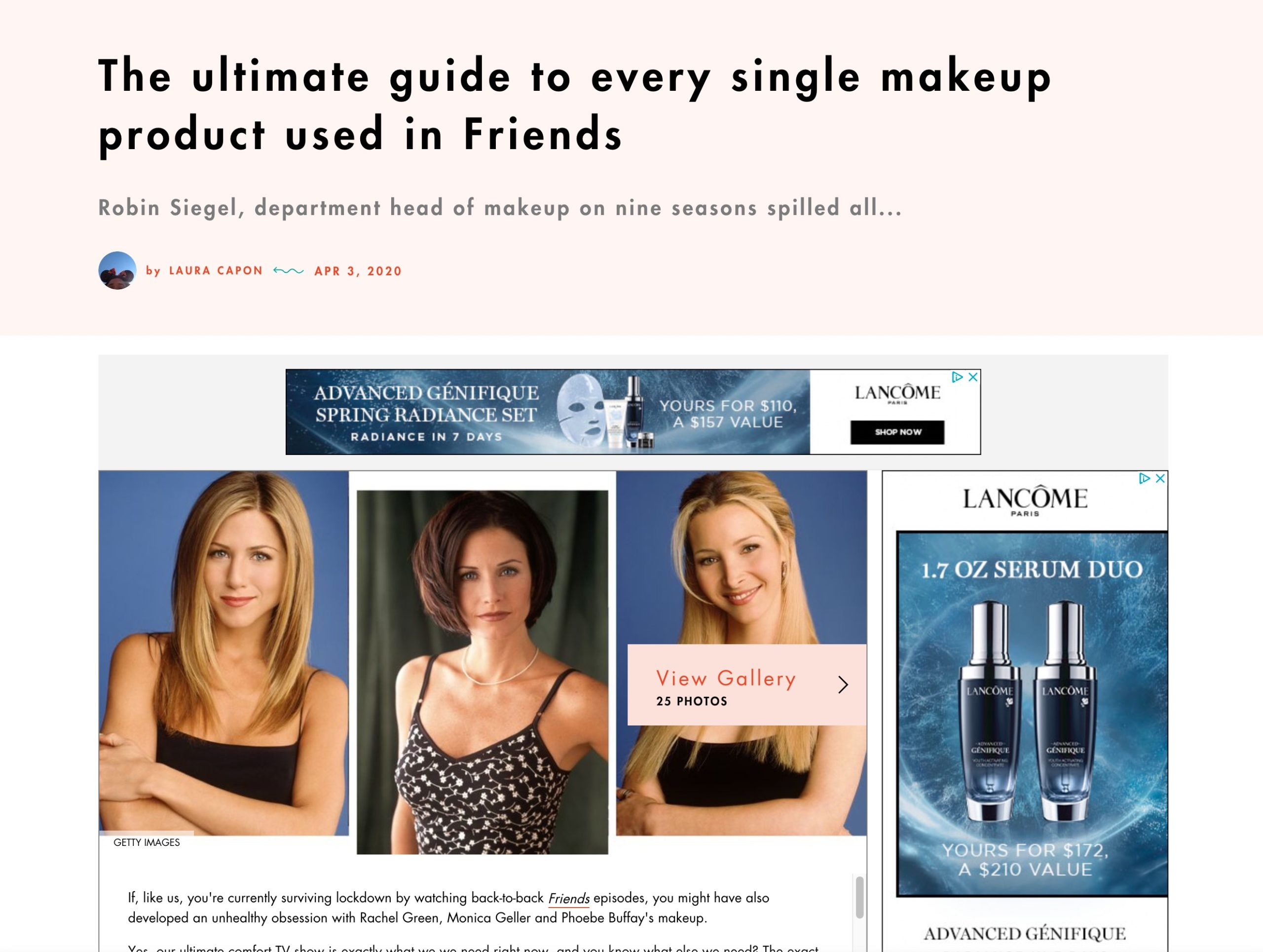 The ultimate guide to every single makeup product used in Friends
