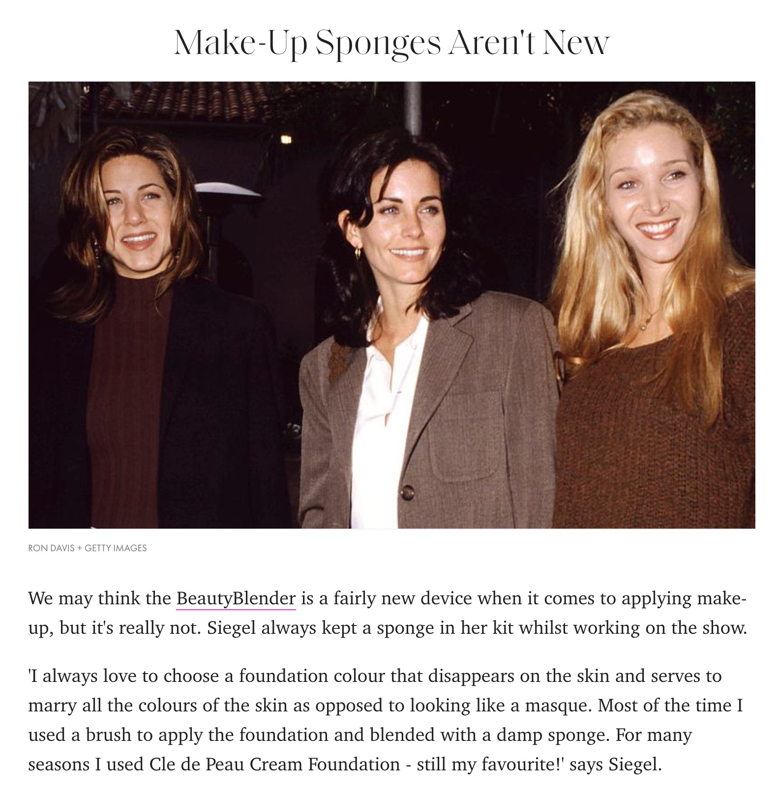 'Friends' 25th Anniversary – 15 Beauty Lessons Feature In Elle Magazine
